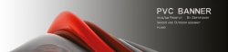 Banner 100x50 cm, PVC, 510g/qm, plano