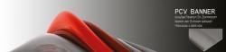 Banner 400x400 cm, PVC, 510g/qm, Hohlsaum