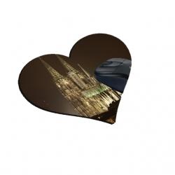 Ihr Foto auf Mousepads, Herzform, 20x20cm