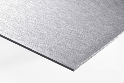 2 Stück Aludibond-Schild gebürstet Direktdruck 100x25cm (einseitiger Druck)