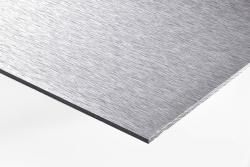 6 Stück Aludibond-Schild gebürstet Direktdruck DIN A4 (beidseitiger Druck)