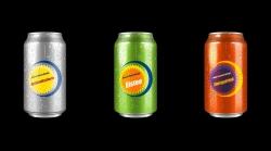 Bedruckte Getränkedosen (ohne Alkohol)