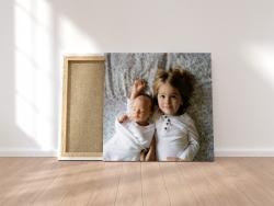 Ihr Bild auf Leinwand gedruckt 140x140cm