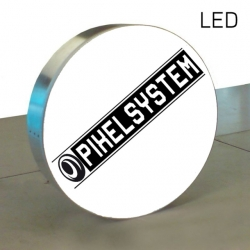 Leuchtkasten rund, zweiseitig Ø 100cm, LED
