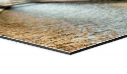 Banner 350x350 cm, Meshgewebe, 270g/qm, rundum geöst und umsäumt