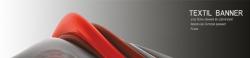 Banner 350x50 cm, Textil, 210g/qm, Plano