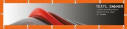 Banner 250x50 cm, Textil, 210g/qm, inkl. Karabiner