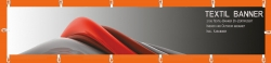Banner 300x100 cm, Textil, 210g/qm, inkl. Karabiner
