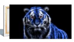Leinwandbild 80x40cm Motiv: Tiger 3