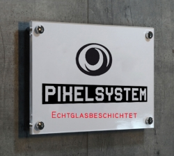 3 Stück Acryl-Schild  Direktdruck 120x30cm inkl. Glasbeschichtung